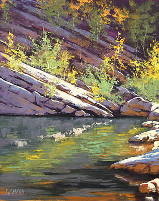 Impressionism Paintings - Rocky Bank by Graham Gercken