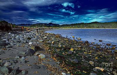 Rocky Beach In Western Canada Print by Louise Heusinkveld