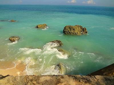 Photograph - Rocky Blue Ocean by Xafira Mendonsa