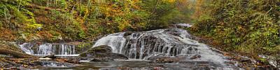Sc Waterfalls Photograph - Rocky Cascade by Debra and Dave Vanderlaan