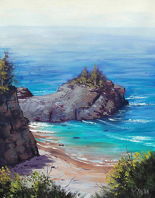 Big Sur Painting - Rocky Coast Big Sur  by Graham Gercken