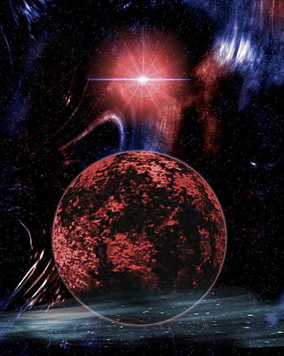 Rocky Extrasolar Planet Art Print by Victor Habbick Visions