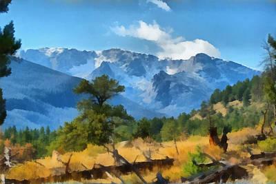 Rocky Digital Art - Rocky Mountain National Park by Ernie Echols