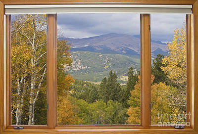 Scenic Photograph - Rocky Mountain Picture Window Scenic View by James BO  Insogna