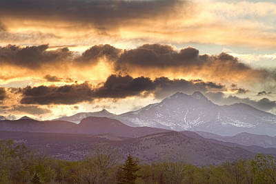 Commercial Licensing Photograph - Rocky Mountain Springtime Sunset by James BO  Insogna