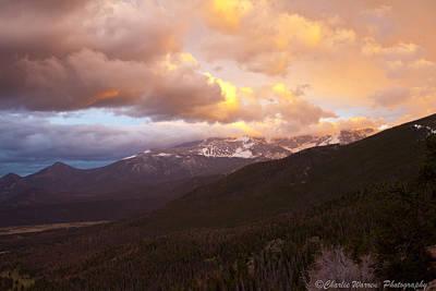 Rocky Mountain Sunset Art Print by Charles Warren