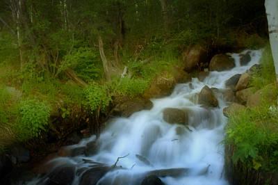 Rocky Mountain Waterfall Art Print by Ellen Heaverlo