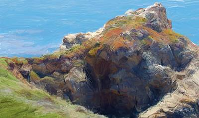 Painting - Rocky Point Big Sur Ca by Jim Pavelle