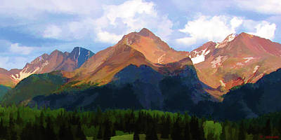 Rocky Red Mountains Art Print