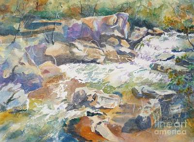 Rocky River Art Print by Mary Haley-Rocks