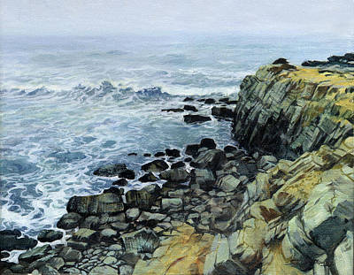 Painting - Rocky Shore by Sergey Zhiboedov