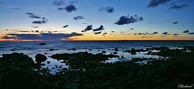 Photograph - Rocky Shore Sunset by Burland McCormick