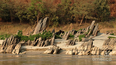 Boat Along The River Photograph - Rocky Shores by Bob Christopher