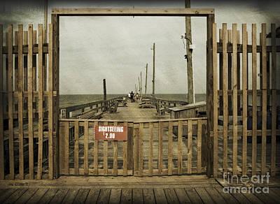 Rodanthe Fishing Pier Sightseeing Sign Art Print