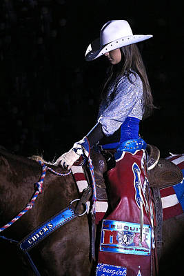 Photograph - Rodeo Cowgirl by Elizabeth Hart