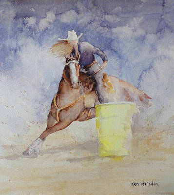 Painting - Rodeo Gal Two by Ken Marsden
