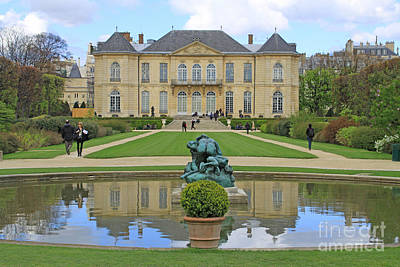 Painting - Rodin Museum And Garden In Paris by Rita Brown