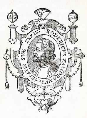 1576 Photograph - Rodrigo Zamorano, Spanish Author by Middle Temple Library