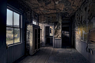 Bannack Ghost Town Photograph - Roe - Graves House Kitchen Of Bannack Ghost Town - Montana by Daniel Hagerman