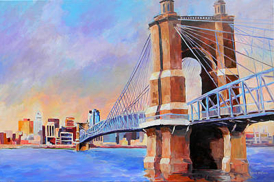 Painting - Roebling Twilight by David  Maynard