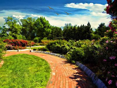 Ground Photograph - Roger William's Japanese Garden by Lourry Legarde