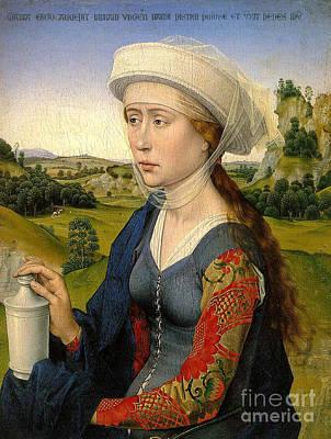 Rogier Van Der Weyden The Braque Triptych Art Print by Pg Reproductions