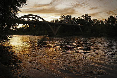 Rogue River Sunset Art Print