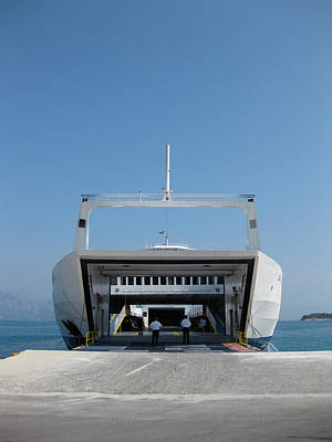 Boat Photograph - Roll On Roll Off In Greece by Nop Briex