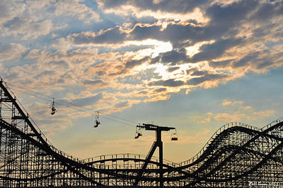 Roller Coaster Digital Art - Roller Coaster - Wildwood Nj by Bill Cannon