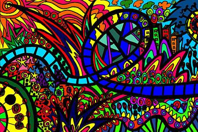 Roller Coaster Original by Karen Elzinga