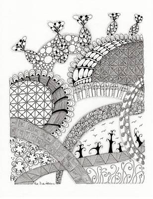 Roller Coaster Drawing - Roller Coaster by Paula Dickerhoff