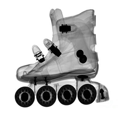 Rollerblade Boot Art Print by Ted Kinsman