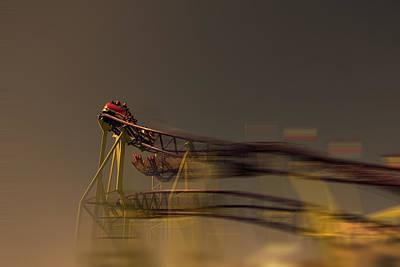 Rollercoaster Photograph - Rollercoaster by Douglas Barnard