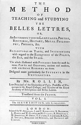 Rollin: Title Page, 1769 Art Print by Granger