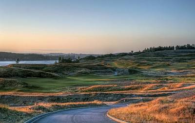 Photograph - Rolling Green And Gold - Chambers Bay Golf Course by Chris Anderson