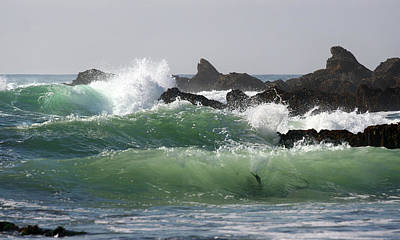 Print featuring the photograph Rolling Green Waves by Michael Rock