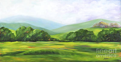 Painting - Rolling Hills In Springtime by Pati Pelz