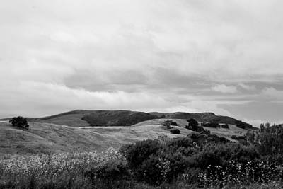 Photograph - Rolling Hills View I - Bw by Kathleen Grace