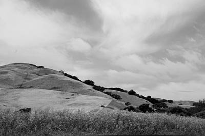 Photograph - Rolling Hills View IIi - Bw by Kathleen Grace