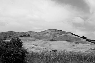 Photograph - Rolling Hills View Iv - Bw by Kathleen Grace