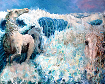 Horses In The Ocean Painting - Rolling In The Deep by Graham Keith