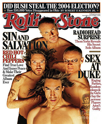 Red Hot Chili Peppers Wall Art - Photograph - Rolling Stone Cover - Volume #1002 - 6/15/2006 - Red Hot Chili Peppers by Matthew Rolston