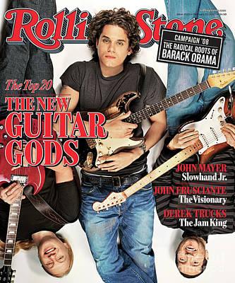 Truck Wall Art - Photograph - Rolling Stone Cover - Volume #1020 - 2/22/2007 - John Mayer, Derek Trucks, John Frusciante by Matthew Rolston