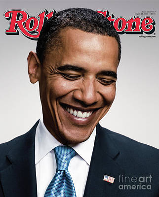 Barack Obama Wall Art - Photograph - Rolling Stone Cover - Volume #1057 - 7/10/2008 - Barack Obama   by Peter Yang