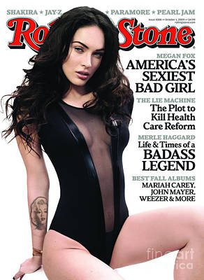 Rock N Roll Wall Art - Photograph - Rolling Stone Cover - Volume #1088 - 10/1/2009 - Megan Fox by Mark Seliger