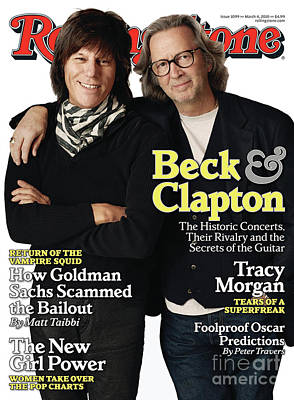 Eric Clapton Wall Art - Photograph - Rolling Stone Cover - Volume #1099 - 3/4/2010 - Jeff Beck And Eric Clapton by Jones Sam