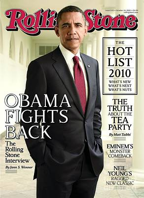 Barack Obama Wall Art - Photograph - Rolling Stone Cover - Volume #1115 - 10/14/2010 - Barack Obama by Seliger Mark