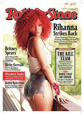 Rihanna Photograph - Rolling Stone Cover - Volume #1128 - 4/14/2011 - Rihanna by Mark Seliger