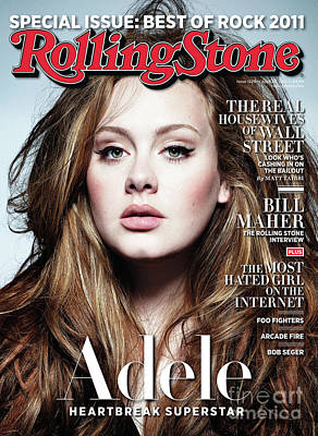 Adele Wall Art - Photograph - Rolling Stone Cover - Volume #1129 - 4/28/2011 - Adele by Simon Emmett