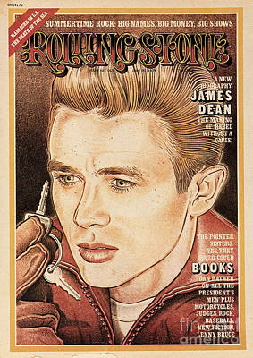 Rolling Stone Cover - Volume #163 - 6/20/1974 - James Dean Art Print